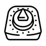 Retro tidmätaresymbol för kök, översiktsstil stock illustrationer