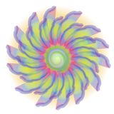 Retro Tie Dyed Flower Blossom Royalty Free Stock Images