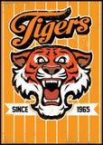 Retro tiger mascot design Royalty Free Stock Image