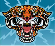 Retro Tiger Tattoo Royalty Free Stock Photography