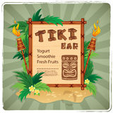 Retro Tiki bar sign Stock Photography