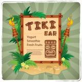 Retro Tiki bar sign. Vector Retro Tiki bar sign for your business Stock Photography