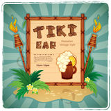 Retro Tiki bar sign. Vector Retro Tiki bar sign for your business Stock Image