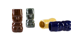 Retro- Tiki Totem Shooters Stockfoto