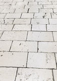 Retro tiled floor on street at Croatia Royalty Free Stock Photos
