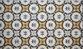 Retro tiles with floral motifs. Today they are mainly used on the walls in the kitchen. Wall background and texture Stock Photos