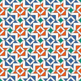 Retro Tiles Pattern. Inspired by Arabic Ornamental Art Stock Photography