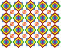 Retro Tiles Pattern Inspired  Islamic Geometric multi color. Art of paper folding, Origami. Modern floral texture of geometric. Ornament. Vector for interior Stock Image