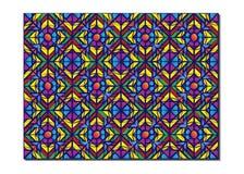 Retro Tiles Pattern Inspired Islamic Geometry multi color. Art of paper folding, Origami. Modern floral texture of geometric. Retro Tiles Pattern Inspired royalty free illustration
