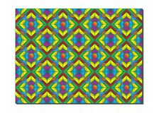 Retro Tiles Pattern Inspired Islamic Geometry multi color. Art of paper folding, Origami. Modern floral texture of geometric. Ornament. Vector for interior royalty free illustration