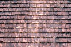 Retro Tiles rooftop for background Royalty Free Stock Photo
