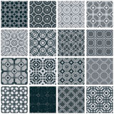 Retro tiles seamless patterns set. Stock Image