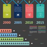 Retro Timeline Infographic, Vector design template Royalty Free Stock Images