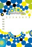 Retro timetable royalty free stock photo