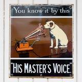 Retro tin advertisement Royalty Free Stock Image