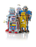 Retro Tin Clockwork Robots Stock Photos