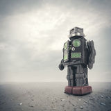 Retro tin robot toy Royalty Free Stock Photography