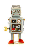 Retro Tin Robot Stock Photo