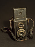 Retro TLR (Twin-lens reflex) photo camera Stock Photo
