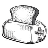 Retro toaster Royalty Free Stock Images