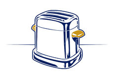 Retro toaster icon Royalty Free Stock Image