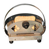 Retro- Toaster mit Brot Lizenzfreies Stockbild
