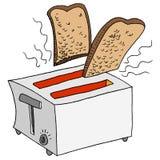 Retro Toaster Toasting Bread Royalty Free Stock Photos