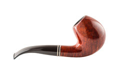Retro tobacco pipe on a white background. In high resolution royalty free stock photo