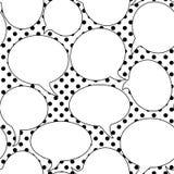 Retro Toespraak borrelt Naadloos Patroon vector illustratie