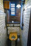 Retro toilet in an old restaurant Stock Images