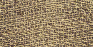 Retro toned high quality close up picture of jute. Royalty Free Stock Photo
