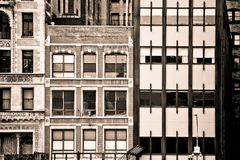 New York City building facades Royalty Free Stock Photography