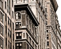 New York City building facades Stock Image