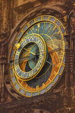 Retro Toned Old Prague Astronomical Clock Royalty Free Stock Photography