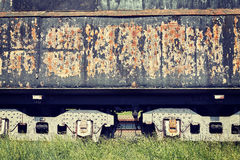 Retro toned old rusty steam locomotive side Stock Photos