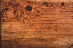 Retro toned rustic oak wood plank Royalty Free Stock Photography