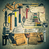 Retro toned tools Royalty Free Stock Image