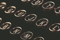 Retro toned vintage typewriter keys Royalty Free Stock Photos