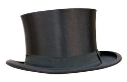 Retro top hat. On white. Clipping path included Royalty Free Stock Photo