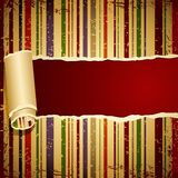 Retro Torn Wallpaper Stock Image