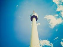 Retro torre di sguardo TV a Stuttgart Immagini Stock