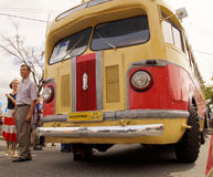 Retro town bus of the 1950`s ZIS 155 Stock Photos