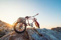 Retro toy bicycle Stock Photos