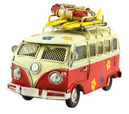 Retro Toy Camper Car Royalty Free Stock Photography