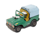 Retro toy military jeep Royalty Free Stock Image