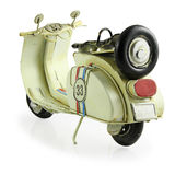 Retro toy motorcycle Stock Images