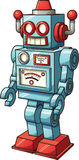 Retro toy robot. Vector clip art illustration with simple gradients. All in a single layer Stock Image