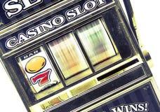 Retro toy slot machine spinning Royalty Free Stock Images