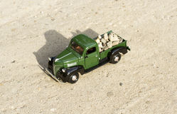 Retro toy truck car Stock Photo
