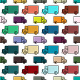 Retro toy trucks seamless pattern Royalty Free Stock Photos